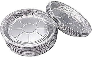 Premium 6 tum aluminiumfolie pajpannor 50 st/uppsättning. Engångstallrikar för pajer Tart Quiche