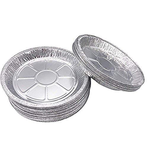 Juego de 50 moldes de aluminio de alta calidad para tartas de 23 cm Platos desechables de hojalata para pasteles, tartas y quiches.