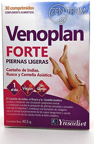 YNSADIET VENOPLAN 30 compresse | Senza glutine | Ippocastano + Rusco + Centella Asiática + Vitamina C | Migliora la circolazione per gambe leggere, contro le vene varicose - 1 compressa al giorno.