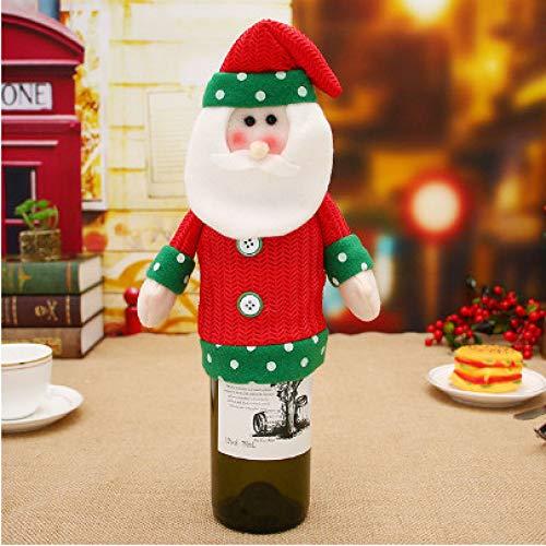 tytlsd Tapa Antipolvo De Botella De Vino De Santa Claus, Bolsas De Regalo para Suministros De Fiesta De Navidad, Vajilla para La Cena En Casa para La Decoración De La Mesa del Hogar B