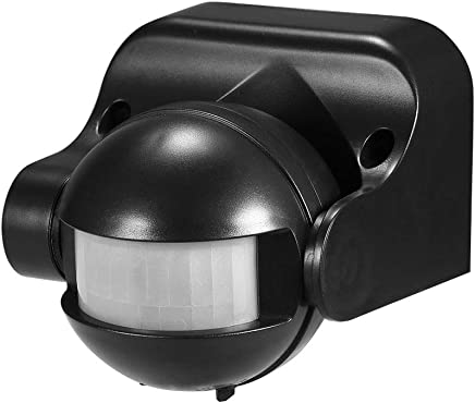 OWSOO Sensor de Movimiento Infrarrojo PIR AC 220V-240V 180 Grados Seguridad IP44 Detector de