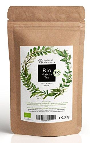 Bio Matcha-Tee Pulver 100g - Laborgeprüfter Bio-Matcha (DE-ÖKO-001) - Ohne Zusätze, rein...