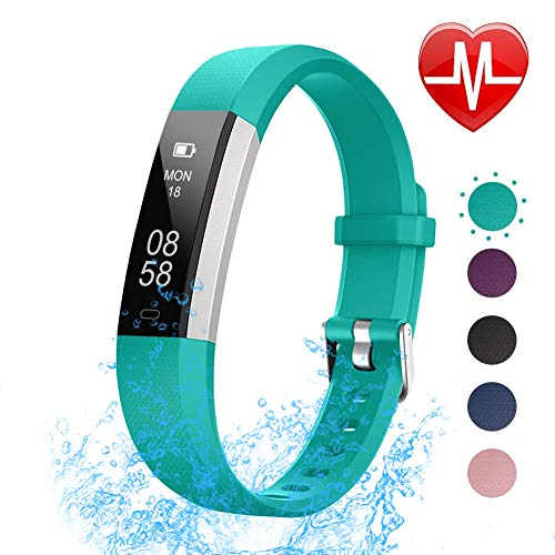 LETSCOM Fitness Tracker with Heart Rate Monitor, Slim Sports Activity Tracker Watch, IP67 Pedometer Watch with Sleep Monitor, Step Tracker for Kids, Women, and Men