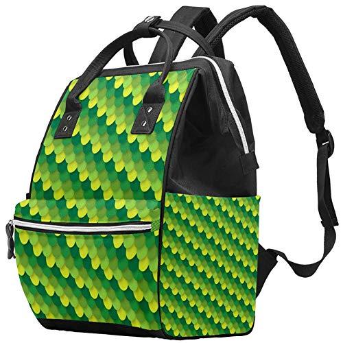 Grand sac à langer multifonction pour bébé, sac à dos, sac à dos, sac à dos, sac à dos pour maman et papa, grain de peau de dragon