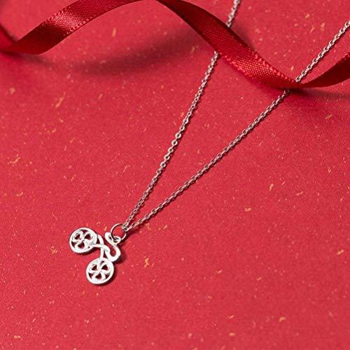 Good dress S925 Silber Halskette Weiblichen Japanischen Stil Temperament Persönlichkeit Fahrrad Set Kette Mode Süße Kurze Schlüsselbein Kette Weiblich, S925 Silberkette, Wie Gezeigt