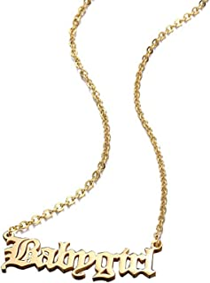 Stainless Steel 18K Gold Plated Old English BabyGirl Necklace 18inch Christmas Gift