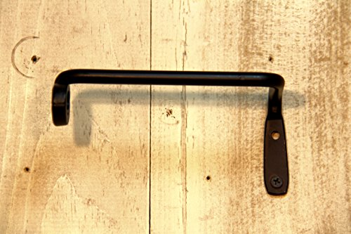 Hand Crafted & American Made! Wrought Iron Toilet Tissue Bar Rack Holder Scroll