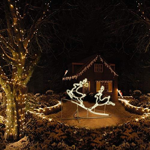 addobbi natalizi renne luminose