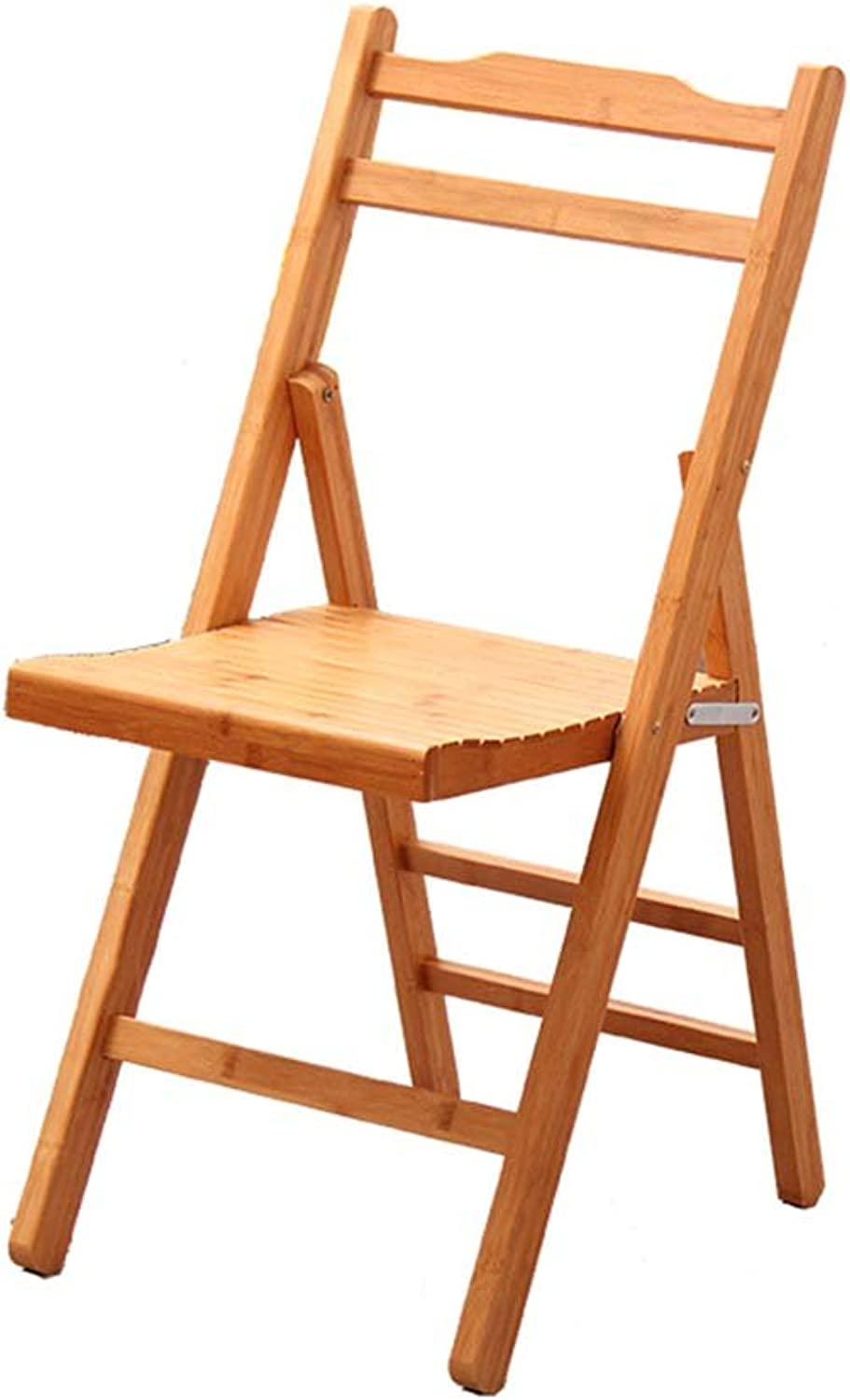 ZEMIN Chairs Seat Stool Ladder Table Foldable Wooden Backrest Bamboo Padded Multifunction, Wood color, 2 (Size   32x35x54CM)