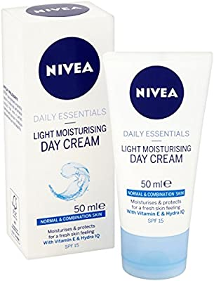 NIVEA Light Moisturising Day Cream Pack of 3 (3 x 50ml), Hydrating Face Cream with Vitamin E, Skin Care Essentials, Intensive Moisturiser