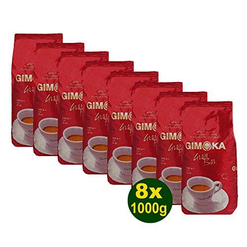 Gimoka Gran Bar Kaffee Ganze Bohnen 8x 1000g (8000g) - Typisch italienisch!
