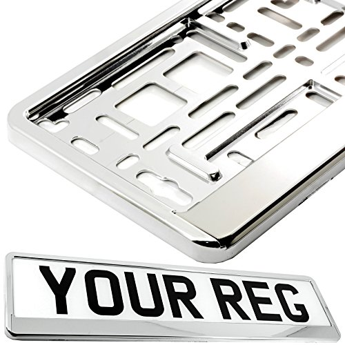 TAPORT 1x Car Registration License Number Plate Surround Holder Frame ALL STYLES (SUPER CHROME)