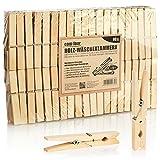 com-four® 80x Mollette XL in Legno - Mollette Sostenibili in Legno di Betulla - Mollette in Legno Non Trattato per Stendere Il Bucato, Circa 9 cm (080 Pezzi - Betulla - XL)