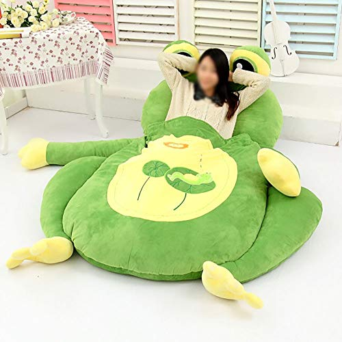 JFTY Felpa Acolchado colchón futón Multifuncional Animal futón colchón Saco de Dormir Tatami sofá Cama Regalo(Color:Frog,Size:200 * 110cm)