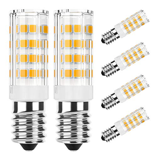 DiCUNO E14 LED Birne 4W für Dunstabzugshaube (40 W Halogen Äquivalent), 400LM, Warmweiß (3000K), 220-240V, Maiskolben Led Mais Birne,Nicht dimmbar, Kühlschranklampe/Nähmaschinen, 6-Pack