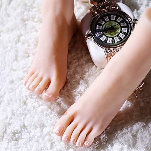HEXEK Siliconen Mannequin Voet, Siliconen Schieten rekwisieten Vrouwelijke Display Stand Dames Sandalen Schoenen Sokken Korte Stocking Enkel