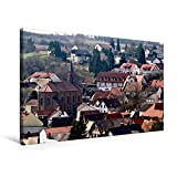 CALVENDO Premium Textil-Leinwand 75 x 50 cm Quer-Format Ortskern von Gau-Bischofsheim, Leinwanddruck von Michael Möller