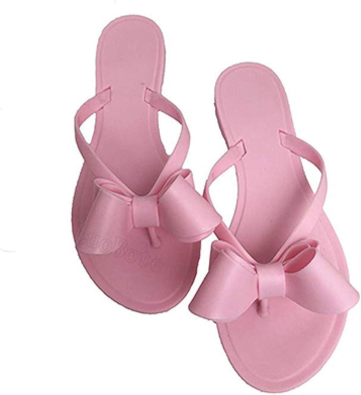 Women Flats Summer Flip-Flops Sandals Beach Thong Dress Wedding shoes Bow Matte Slides shoes