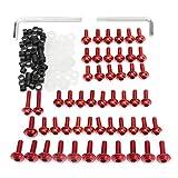 MoreChioce - Juego de tornillos de carenado para motocicleta, 158 unidades, tornillos de sujeción compatibles con R6 1999-2002, color rojo