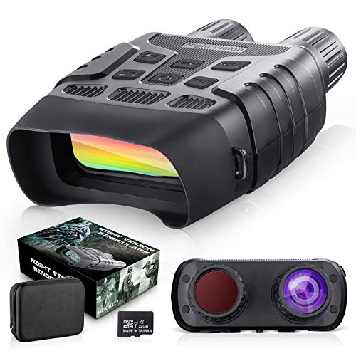 BNISE Night Vision Binoculars Digital Infrared Camera for Hunting -Night Vision Googgles with 32G TF Card Large LCD Screen for Wildlife Day and Night 100% Darkness (LD-9105)