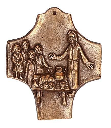 Butzon & Bercker Kommunion Kreuz Kommt und seht Bronze 9,5 cm Erstkommunion
