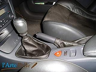 Cuffie leva cambio e freno Renault Laguna vera pelle nera