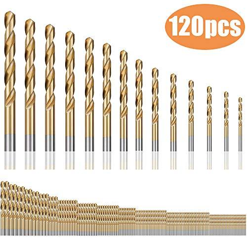 Spiralbohrer, Bst4UDirect Micro Titanium Drill Bits Metrisches Set-Werkzeug 1,5mm-10mm für Holz-Kunststoff(120 Stück)