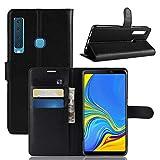 betterfon | Wallet Hülle Handytasche Schutzhülle Klapptasche Handyhülle Handy Tasche Schale Hülle für Samsung Galaxy A9 2018 SM-A920 Schwarz