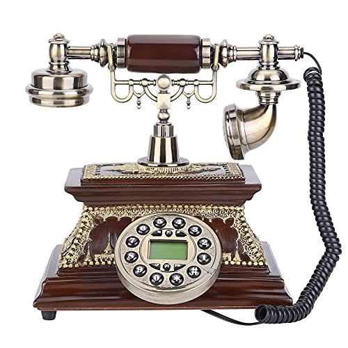 Teléfono - Teléfono de identificación vintage retro de escritorio con pantalla para decoración de hotel de oficina en casa