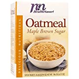 HealthSmart High Protein Maple Brown Sugar Oatmeal, 15g Protein, Low Calorie, Low Carb, Low Fat, Sugar Free, Instant Diet Oatmeal Mix, KETO Friendly, Ideal Protein Compatible, 7 Count Box