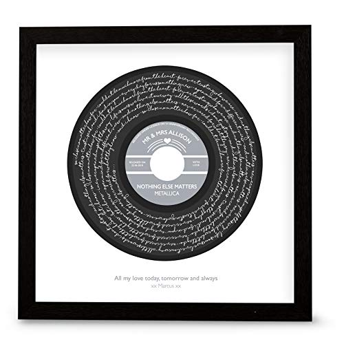 First Dance Print of Song Lyrics - Póster Personalizado con Texto en inglés First Dance Print of Song Kong (Marco Opcional), Metallica - Nothing Else Matter