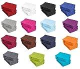 10er Pack Waschhandschuhe, Waschlappen Größe 15x21 cm in Marine 100% Baumwolle