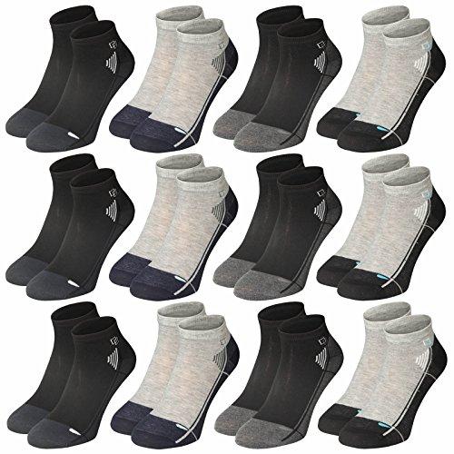 Lavazio® 12   24   36   48 Paar unifarbene Herren Freizeit Sneakers in moderen Farben
