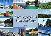 """Lake Superior & Lake Michigan (Wandkalender 2022 DIN A4 quer): Impressionen aus der Region der """"Great Lakes"""" (Monatskalender, 14 Seiten )"""