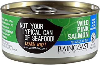 RainCoast Wild Pink Salmon, No Salt Added, 5.65 Ounce (Pack of 12)