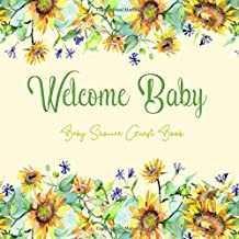 Baby Shower Guest Book: Sunflowers Flowers Rustic Theme, Welcome Baby Sign in Guestbook with predictions, advice for parents, wishes, gift log, address & photo, Memory Keepsake (Pregnancy Gifts)