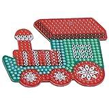 IDWT Kit de Llavero de Pintura Llavero, 4 Piezas de Llavero de Tren de Navidad, Adornos de Equipaje DIY para el hogar Familiar