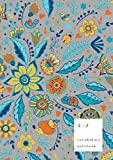 A-Z Vocabulary Notebook: B5 Medium Journal 2 Columns with Alphabet Index | Fancy Animal Floral Cover Design | Gray
