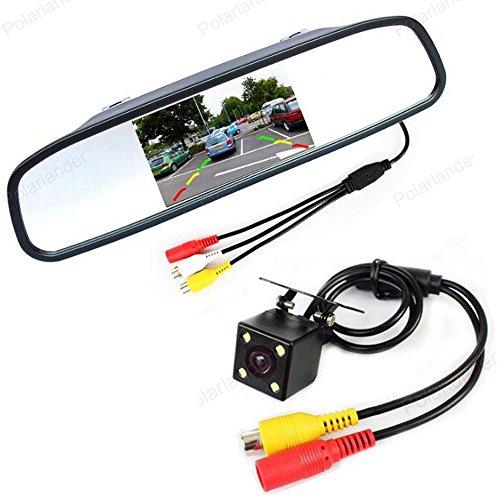 GOFORJUMP Mini système de capteur de stationnement de caméra de Vue arrière de Voiture de CCD de Voiture de LED + Moniteur de Miroir de Voiture de 5 Pouces