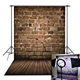 Daniu Brick Wall Vinyl Photo Background Children Photo Studio Retro Photography Backdrops Wood Floor 5x7FT BJ257