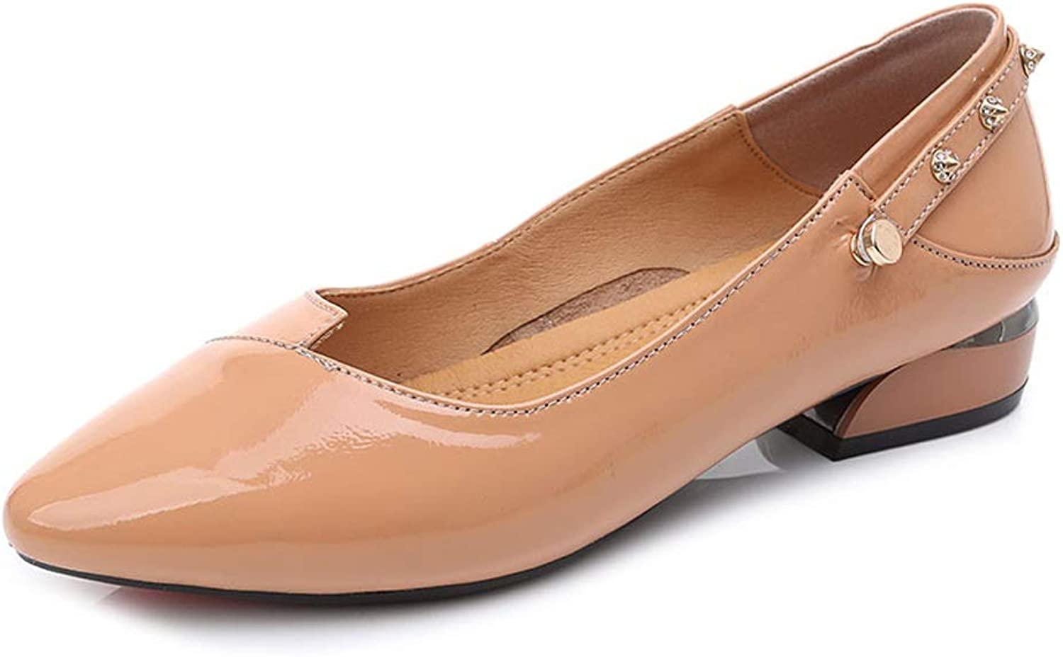 LANSEL Single shoes Female Spring and Autumn Thick with Shallow Mouth Korean Version of The Wild Women's Small shoes