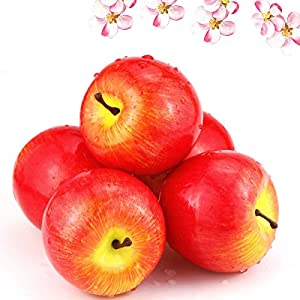BcPowr 12PCS Fake Fruit Apples – Simulation 1:1 Artificial Fruit Deep Red Apples Artificial Lifelike Fake Fruit Home Display Decoration for Still Life Paintings, Storefront Decoration, Kitchen Decor