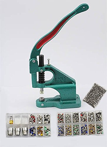 KraftGenius Starter Kit - Stud Setter Plus 1050 Rhinestone Rivets in 3 Sizes and 6 Assorted Colors