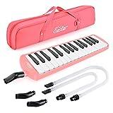 Eastar Melodica 32 für Kinder und Anfänger mit Mundstück und Tragetasche, Pink