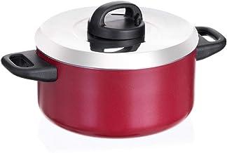 حلة طهي من الستانلس ستيل بغطاء 24 سم من برستيج، PR 15912 - احمر