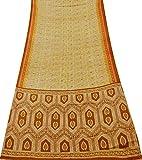 PEEGLI Indisch Frau Vintage Sari Sahne Vorhang Drapieren