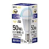 スタイルド LED電球 調光器対応 口金直径17mm 50W形相当 昼光色 広配光タイプ 密閉器具・断熱材施工器具対応 RLA5D17D1