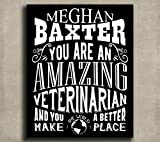 Veterinarian Sign Personalized With Custom Typography and Colors