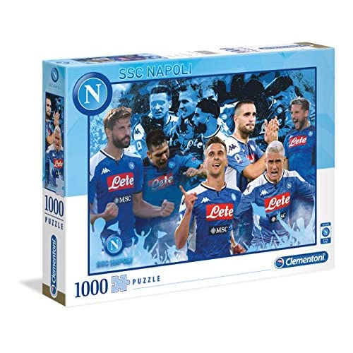 Clementoni-SSC Napoli Puzzle, 1000 pezzi, Multicolore, 39539
