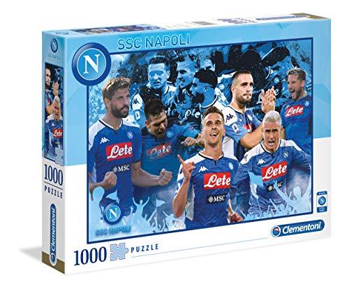 Clementoni - 39539 - Puzzle Napoli 2020 - 1000 Pezzi - Made In Italy - Puzzle Adulti - Puzzle Calcio